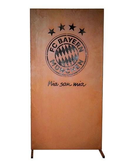Edelrost Sichtschutzwand FC Bayern München