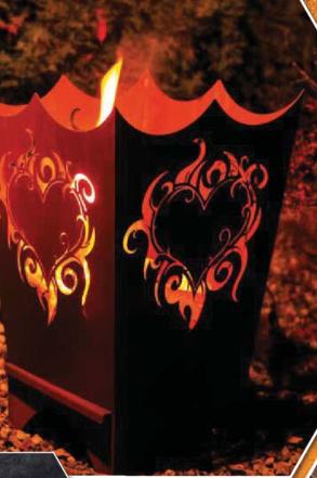 Edelrost Feuerkorb Flammenherz