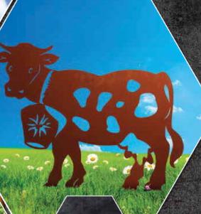 Edelrost Kuh mit Glocke