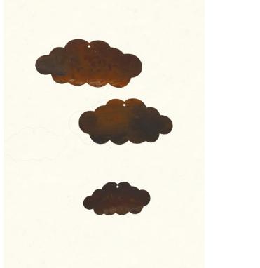 Edelrost Wolken im 3er Set
