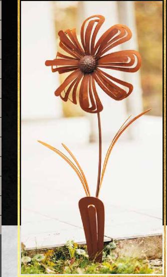 "Edelrost Blume ""Gerbera"""