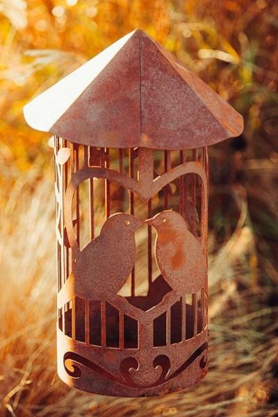 Edelrost windlicht Vogelkäfig