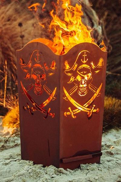 Edelrost Feuerkorb Pirat