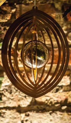 Edelrost Windlicht Ball