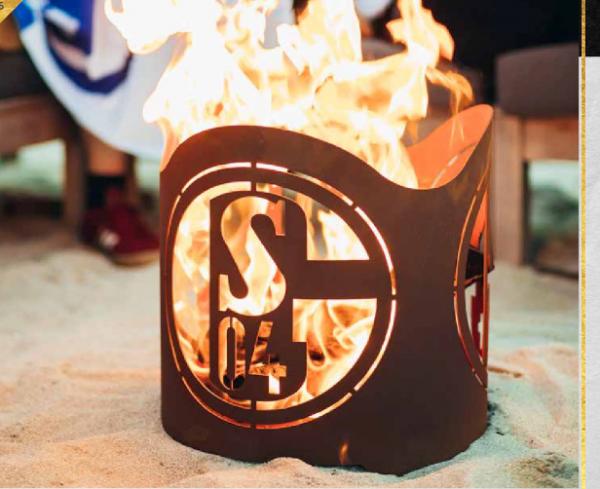 Edelrost Feuerkorb rund Fan Schalke 04