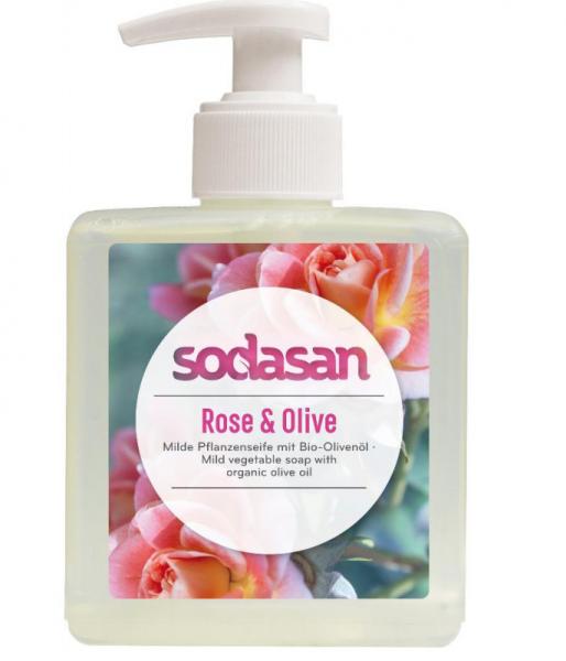Sodasan Rose-Olive Flüssigseife 300 ml