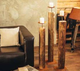 Holz Rost kerzenständer