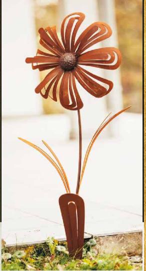 Edelrost Blume Gerbera