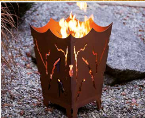 Edelrost Feuerkorb Mystik