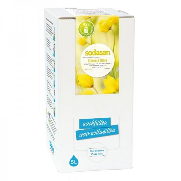 Sodasan Citrus-Olive Flüssigseife 5 l Bagin Box