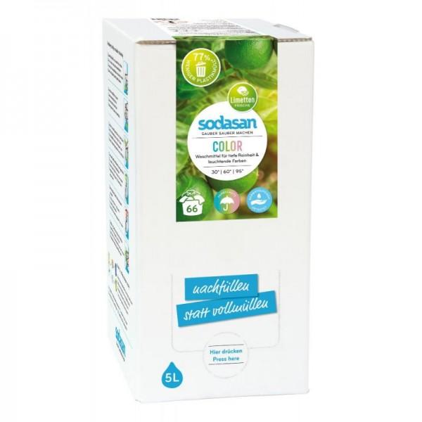 Sodasan Color Limette Flüssigwaschmittel 5 l Bagin Box