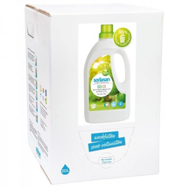 Sodasan Color Limette Flüssigwaschmittel 20 l Bagin Box
