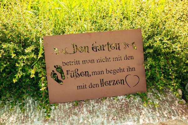 Edelrostschild Garten