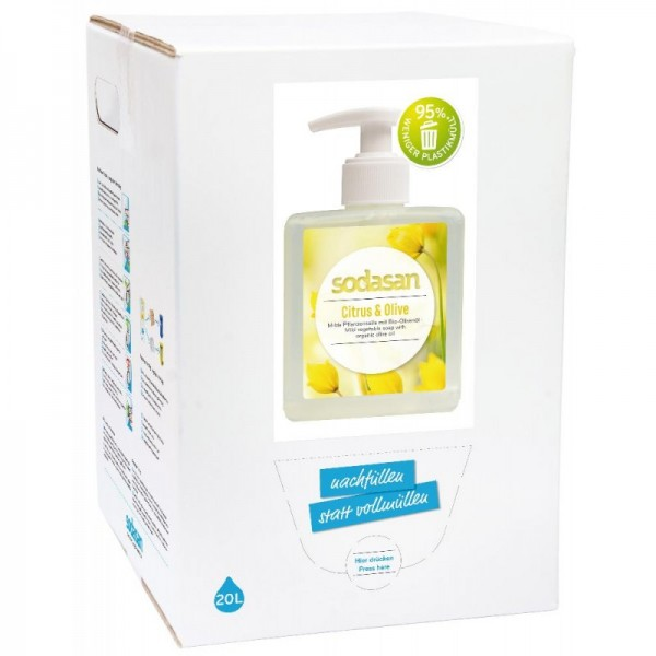 Sodasan Citrus-Olive Flüssigseife 20 l Bagin Box
