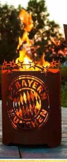 Feuerkorb Fan FC Bayern Variante rund