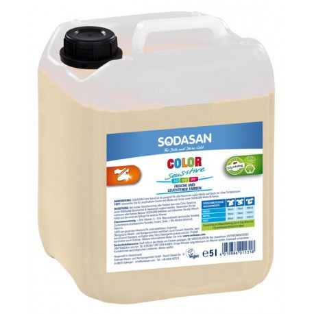 Sodasan Color Sensitiv flüssigwaschmittel 5 liter