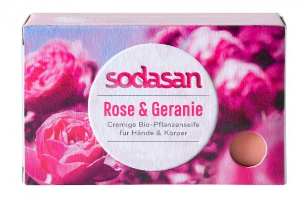 Sodasan Creme SeifeRose und Geranie 100 g