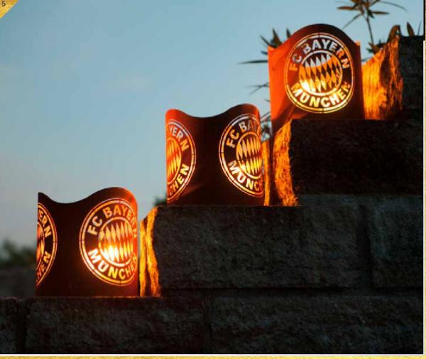 Edelrost Windlicht FC Bayern