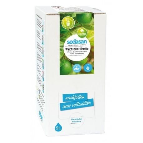 Sodasan Weichspüler Limette 5 l Bagin box