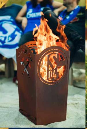 Feuerkorb FC Schalke Fan