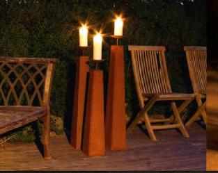 Kerzenstände aus Edelrost-mittlere Größe