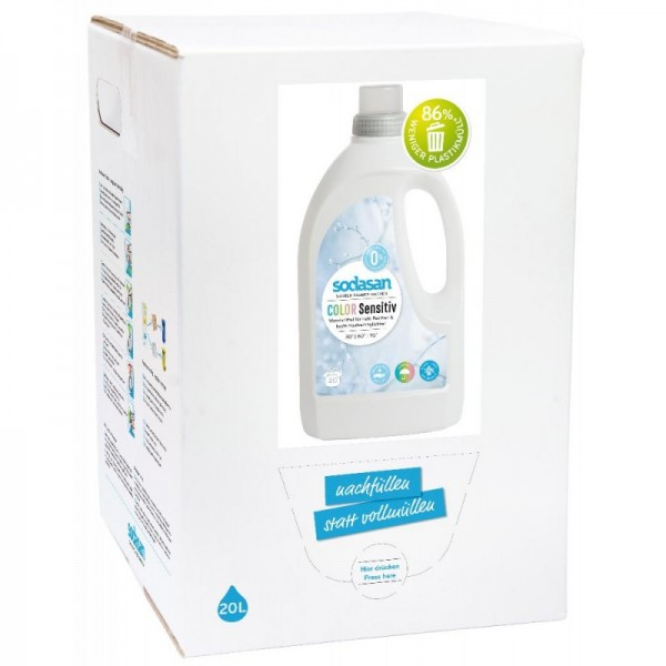Sodasan Color sensitiv Flüssigwaschmittel 20 l Bagin Box-Copy